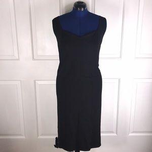 Igigi 30/32 Black midi sweetheart neckline dress